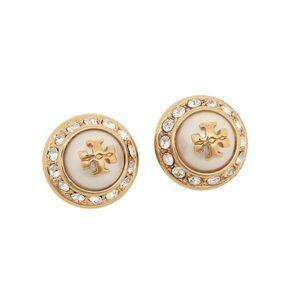 TORY BURCH • Natalie Crystal Pearl Earrings